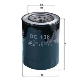 Ölfilter Ø: 90,0mm, Ø: 90,0mm, Höhe: 124mm mit OEM-Nummer 1560187310