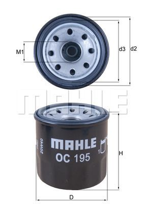 OC 195 MAHLE ORIGINAL from manufacturer up to - 25% off!