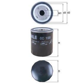 Oil Filter Ø: 76,0mm, Ø: 76,0mm, Height: 93mm with OEM Number 0117 4416