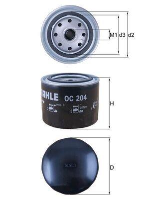 OC 204 MAHLE ORIGINAL tillverkarens upp till - 29% rabatt!