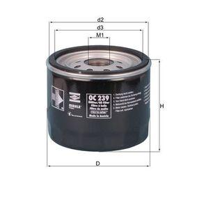 Ölfilter Ø: 93,2mm, Ø: 93,2mm, Höhe: 81mm, Höhe 1: 80mm mit OEM-Nummer ORF0323802B