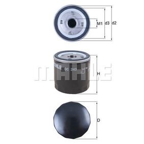 Oil Filter Ø: 76,0mm, Inner Diameter 2: 62,5mm, Height: 80,3mm with OEM Number 7715489