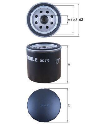 OC 272 MAHLE ORIGINAL del fabricante hasta - 20% de descuento!
