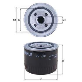 Маслен филтър OC 312 25 Хечбек (RF) 2.0 iDT Г.П. 1999
