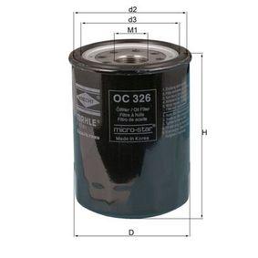 Ölfilter Ø: 89,5mm, Ø: 89,5mm, Höhe: 122mm mit OEM-Nummer 8-94360427-1
