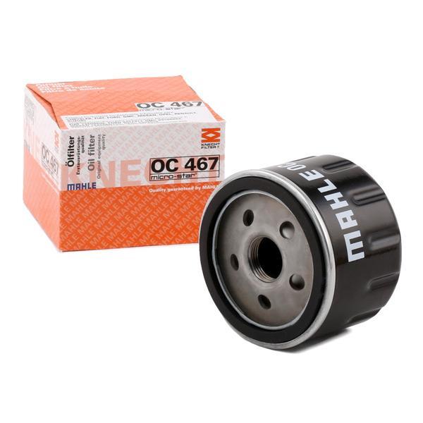 MAHLE ORIGINAL olajszűrő olajhűtővel szerelt járművekhez  Felcsavarható szűrő  OC 467
