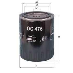 Filtro de aceite OC 476 MATRIX (FC) 1.5 CRDi ac 2010