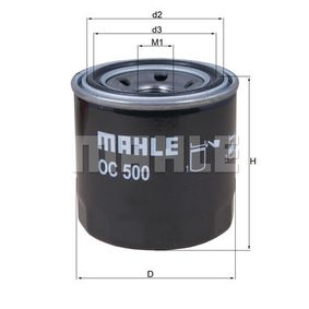 Маслен филтър вътрешен диаметър 2: 56,4мм, височина: 80,2мм с ОЕМ-номер 2630035502