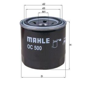 Ölfilter Ø: 76,0mm, Außendurchmesser 2: 63mm, Ø: 76,0mm, Innendurchmesser 2: 56mm, Innendurchmesser 2: 56mm, Höhe: 80mm, Höhe 1: 79mm mit OEM-Nummer 2630035502