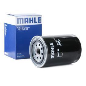 MAHLE ORIGINAL  OC 59 Ölfilter Außendurchmesser 2: 70,0mm, Ø: 93,2mm, Innendurchmesser 2: 62,0mm, Innendurchmesser 2: 61,0mm, Höhe: 141,0mm, Höhe: 129,6mm