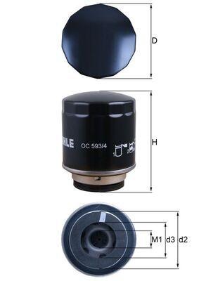 MAHLE ORIGINAL OC 593/4 EAN:4009026727836 Shop