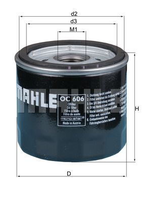 OC 606 MAHLE ORIGINAL valmistajalta asti - 26% alennus!