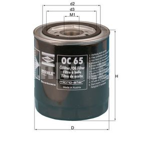 Oil Filter Ø: 93,2mm, Inner Diameter 2: 62,0mm, Height: 112,0mm with OEM Number 46402457