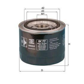 Ölfilter Ø: 93,2mm, Ø: 93,2mm, Höhe: 81mm mit OEM-Nummer 15400PA6004