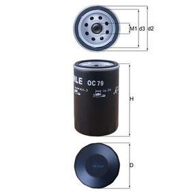 MAHLE ORIGINAL  OC 79 Filtre à huile Ø: 76,0mm, Diamètre intérieur 2: 62,0mm, Hauteur: 119,5mm