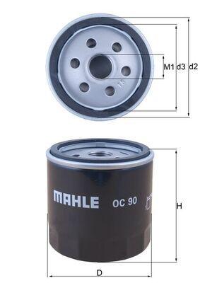 MAHLE ORIGINAL OC90 EAN:4009026037935 Tienda online