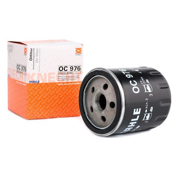 MAHLE ORIGINAL Filtr oleju dla pojazdów z napędem hybrydowym  Filtr przykręcany  OC 976