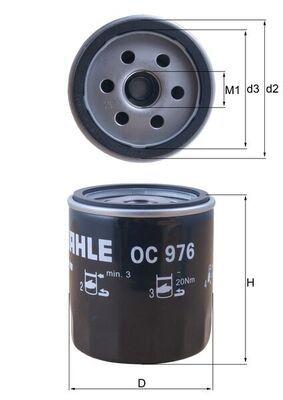 MAHLE ORIGINAL OC976 EAN:4009026729557 online store