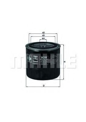 MAHLE ORIGINAL  OC 99 Ölfilter Außendurchmesser 2: 72,0mm, Ø: 86,5mm, Innendurchmesser 2: 62,0mm, Höhe: 89,0mm