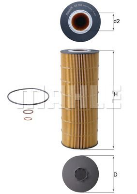 MAHLE ORIGINAL Oliefilter OX 168D