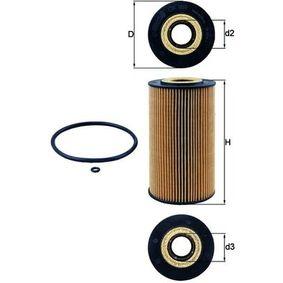 Ölfilter Ø: 82,5mm, Innendurchmesser 2: 34,5mm, Höhe: 149,5mm, Höhe 1: 144,5mm mit OEM-Nummer 628 180 0009