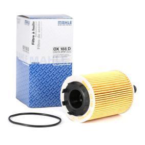 MAHLE ORIGINAL Ölfilter OX 188D für AUDI A3 (8P1) 1.9 TDI ab Baujahr 05.2003, 105 PS