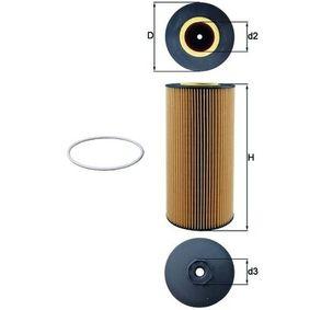 Ölfilter Ø: 121,0mm, Innendurchmesser: 44,5mm, Innendurchmesser 2: 57,0mm, 58,7mm, Höhe: 263,5mm mit OEM-Nummer 0001802909