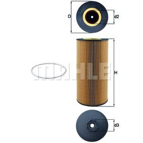 Ölfilter Ø: 121,0mm, Innendurchmesser: 44,5mm, Innendurchmesser 2: 57mm, 57,0mm, 58,7mm, Höhe: 264mm mit OEM-Nummer A000 180 2909