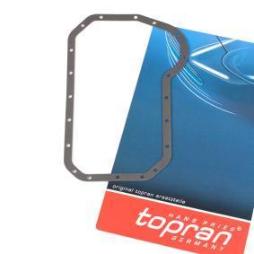 TOPRAN Dichtung, Ölwanne 100 293 für AUDI 80 (81, 85, B2) 1.8 GTE quattro (85Q) ab Baujahr 03.1985, 110 PS