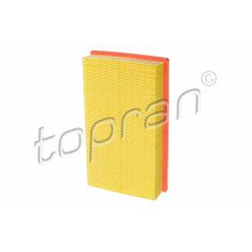 TOPRAN Luftfilter 102 733 für AUDI 80 (8C, B4) 2.8 quattro ab Baujahr 09.1991, 174 PS