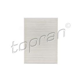 Filter, Innenraumluft Länge: 279mm, Breite: 206mm, Höhe: 26mm mit OEM-Nummer 1H0 819 644B