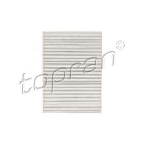 Filter, interior air Length: 279mm, Width: 206mm, Height: 26mm with OEM Number 1 H0 819 644