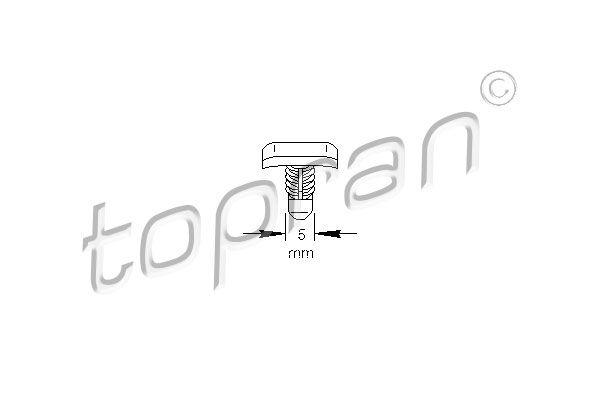 TOPRAN  103 307 Clip, Zier- / Schutzleiste