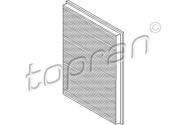 TOPRAN  103 588 Filter, Innenraumluft Länge: 262mm, Breite: 192mm, Höhe: 30mm