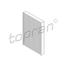 Filter, Innenraumluft Länge: 311mm, Breite: 193mm, Höhe: 30mm mit OEM-Nummer 4A0819439 A