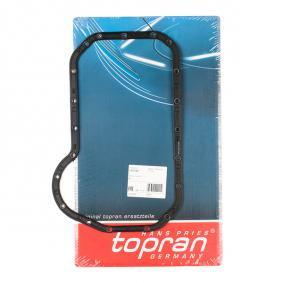 TOPRAN Dichtung, Ölwanne 105 752 für AUDI 80 (81, 85, B2) 1.8 GTE quattro (85Q) ab Baujahr 03.1985, 110 PS