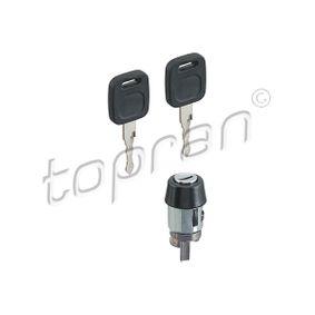 TOPRAN Schließzylinder, Zündschloß 107 090 für AUDI 80 (81, 85, B2) 1.8 GTE quattro (85Q) ab Baujahr 03.1985, 110 PS