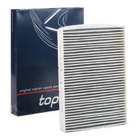 TOPRAN  108 407 Filter, Innenraumluft Länge: 282mm, Breite: 29mm, Höhe: 30mm