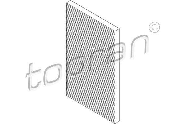 TOPRAN  108 410 Filter, Innenraumluft Länge: 390mm, Breite: 153mm, Höhe: 24mm