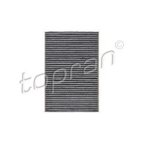 TOPRAN  108 617 Filter, Innenraumluft Länge: 300mm, Breite: 204mm, Höhe: 30mm