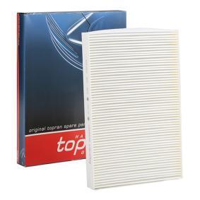 TOPRAN Filter, Innenraumluft 109 106 für AUDI A4 (8E2, B6) 1.9 TDI ab Baujahr 11.2000, 130 PS