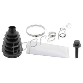 Faltenbalgsatz, Antriebswelle Höhe: 145mm, Innendurchmesser 2: 29mm, Innendurchmesser 2: 96mm mit OEM-Nummer 7M0498203
