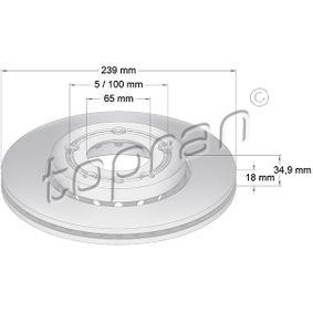 Polo 9n 1.6 Bremsscheiben TOPRAN 109 522 (1.6 Benzin 2003 BAH)