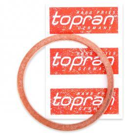 TOPRAN Dichtring, Ölablaßschraube 110 261 für AUDI 80 (8C, B4) 2.8 quattro ab Baujahr 09.1991, 174 PS