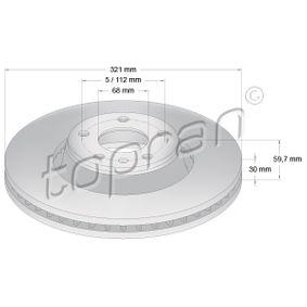 Bremsscheibe Bremsscheibendicke: 30mm, Felge: 5-loch, Ø: 321mm mit OEM-Nummer 4F0 615 301 E