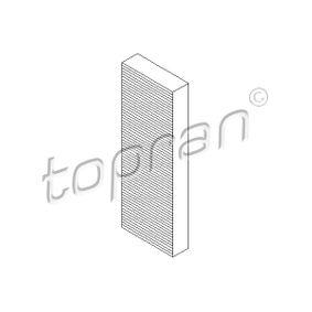 TOPRAN  110 313 Filter, Innenraumluft Länge: 307mm, Breite: 99mm, Höhe: 30mm