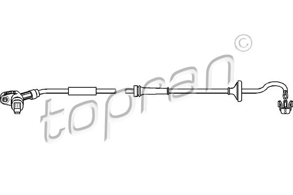 TOPRAN  110 489 Sensor, Raddrehzahl Länge: 921mm
