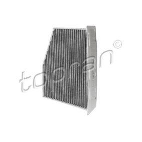 Filter, Innenraumluft Länge: 288mm, Breite: 210mm, Höhe: 58mm mit OEM-Nummer 1K2 819 653 B