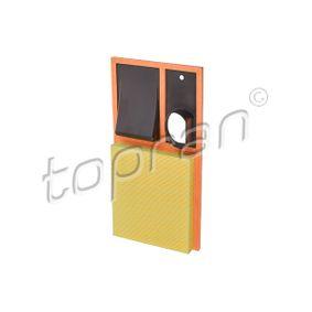 TOPRAN  111 291 Luftfilter Länge: 375mm, Breite: 193mm, Höhe: 40mm
