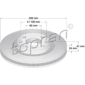 Bremsscheibe Bremsscheibendicke: 24mm, Felge: 4-loch, Ø: 256mm mit OEM-Nummer 90 487 402